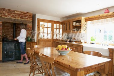 Interior Of Farmouse Kitchen Stock Photo - Royalty-Free, Artist: MonkeyBusinessImages          , Code: 400-05686449