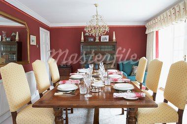 Dining Room With Laid Table Stock Photo - Royalty-Free, Artist: MonkeyBusinessImages          , Code: 400-05686453