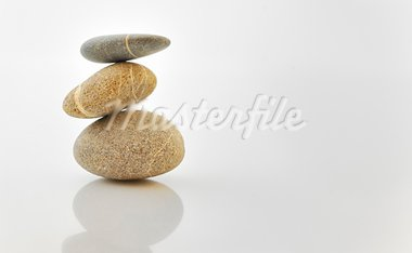 Pyramid of stones over white. Stock Photo - Royalty-Free, Artist: jordache                      , Code: 400-05687197