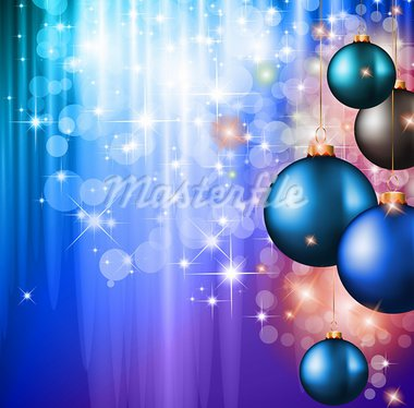 Merry Christmas Elegant Suggestive Background for Greetings Card with glitter lights and stunning baubles. Stock Photo - Royalty-Free, Artist: DavidArts                     , Code: 400-05687343
