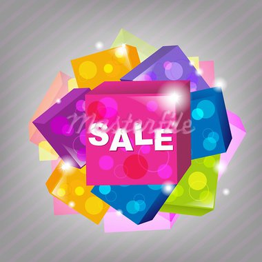 Bright Sale Poster, Vector Illustration Stock Photo - Royalty-Free, Artist: barbaliss                     , Code: 400-05687477
