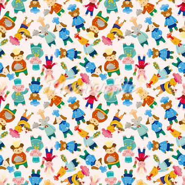 cartoon animal chef seamless pattern Stock Photo - Royalty-Free, Artist: notkoo2008                    , Code: 400-05687991
