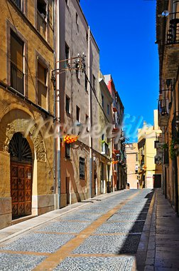 view of a picturesque street of old town of Tarragona, Spain Stock Photo - Royalty-Free, Artist: nito                          , Code: 400-05689129