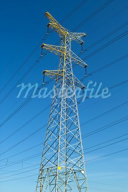 High voltage power pylons Stock Photo - Royalty-Free, Artist: zhuda                         , Code: 400-05689169