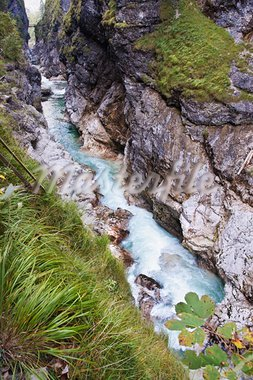 The Lammerklamm is one of the most impressive natural spectacles in Tennengau, Austria Stock Photo - Royalty-Free, Artist: xtrekx                        , Code: 400-05689343