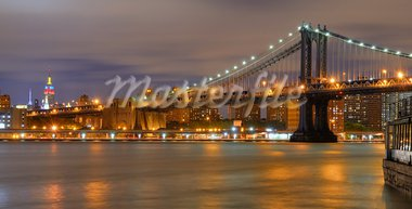 Williamsburgh Bridge viewed from Brooklyn in New York City. Stock Photo - Royalty-Free, Artist: sepavo                        , Code: 400-05690203