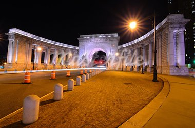 The Triumphal arch at Manhattan Bridge in New York City. Stock Photo - Royalty-Free, Artist: sepavo                        , Code: 400-05690207