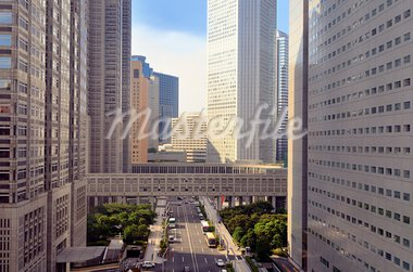 Scene at the Metropolitan Government Building in Shinjuku, Tokyo, Japan. Stock Photo - Royalty-Free, Artist: sepavo                        , Code: 400-05690218