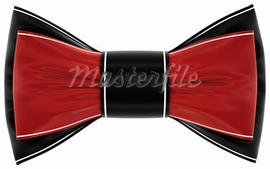 red black bow on a white background, isolated image Stock Photo - Royalty-Free, Artist: tatkhagata                    , Code: 400-05690295