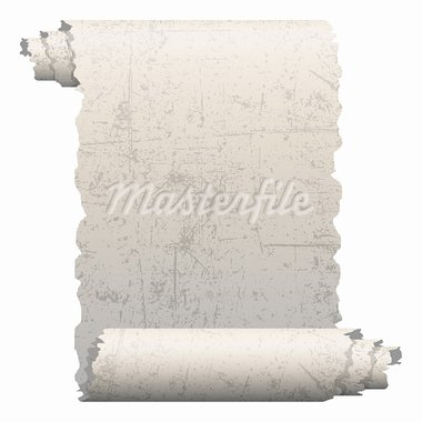 Illustration of old paper roll on a white background. Stock Photo - Royalty-Free, Artist: Duda78                        , Code: 400-05690305