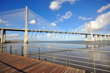 Vasca da Gama Bridge in Lisbon, Portugal. Stock Photo - Royalty-Free, Artist: ruigsantos                    , Code: 400-05690353
