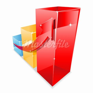 Colorful business graph showing a growth. Vector illustration Stock Photo - Royalty-Free, Artist: camucamu                      , Code: 400-05690903