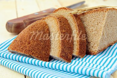 rye black bread on a wooden board Stock Photo - Royalty-Free, Artist: Dream79                       , Code: 400-05692239
