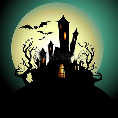halloween background, this illustration may be useful as designer work Stock Photo - Royalty-Free, Artist: Lady_Aqua                     , Code: 400-05692277