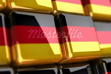 Big pile of cubes with german flag Stock Photo - Royalty-Free, Artist: HerrBullermann                , Code: 400-05692581