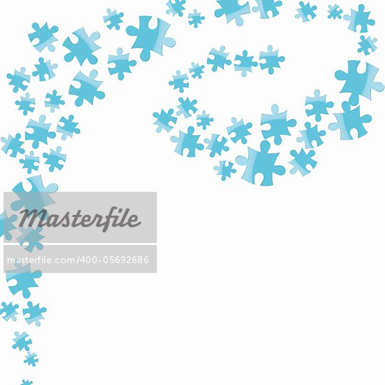 Vector jigsaw puzzle connection background. Christmas abstract vector illustration. Stock Photo - Royalty-Free, Artist: svetap                        , Code: 400-05692686