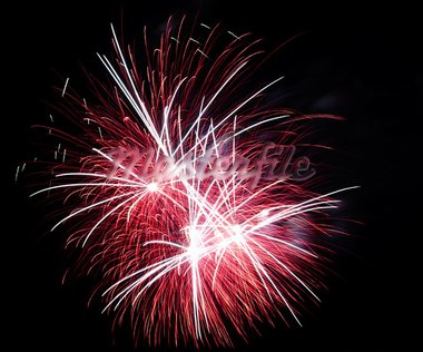Firework display against black sky Stock Photo - Royalty-Free, Artist: yannp                         , Code: 400-05692955