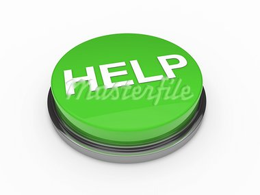 3d button help green push emergency business Stock Photo - Royalty-Free, Artist: dak                           , Code: 400-05693068