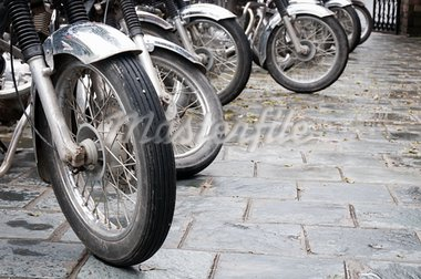 Line of the muddy bikes whells. focus on the front whell. Stock Photo - Royalty-Free, Artist: Iryna_Rasko                   , Code: 400-05693114