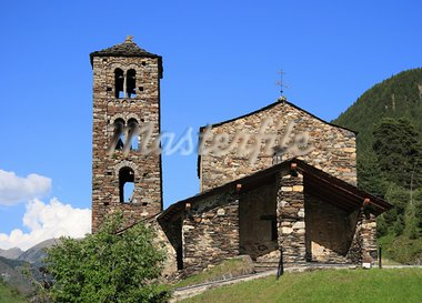 Sant Joan de Caselles (Canillo, Andorra). Romanesque church build in the 12th century. Stock Photo - Royalty-Free, Artist: Marlee                        , Code: 400-05693203
