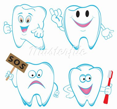 Teeth Set. Vector illustration Stock Photo - Royalty-Free, Artist: saransk                       , Code: 400-05693860