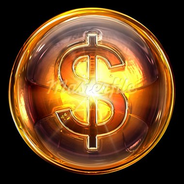 dollar icon fire, isolated on black background. Stock Photo - Royalty-Free, Artist: zeffss                        , Code: 400-05694354