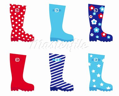 Collecton of wellies boots accessories. Vector illustration.  Stock Photo - Royalty-Free, Artist: lordalea                      , Code: 400-05694614