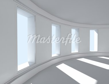 3d architecture of empty interior Stock Photo - Royalty-Free, Artist: carloscastilla                , Code: 400-05694620