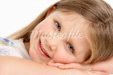 Portrait Of Smiling Young Girl Stock Photo - Royalty-Free, Artist: MonkeyBusinessImages          , Code: 400-05696726