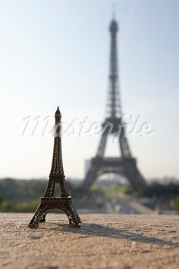 Eiffel Tower With Model,Paris,France Stock Photo - Royalty-Free, Artist: MonkeyBusinessImages          , Code: 400-05696802