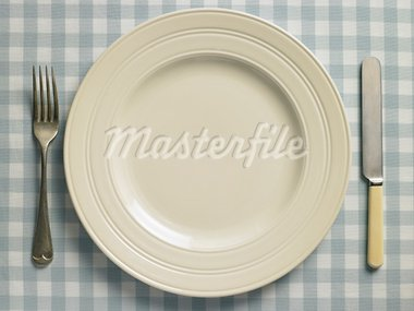 Overhead View Of Place Setting Stock Photo - Royalty-Free, Artist: MonkeyBusinessImages          , Code: 400-05697504