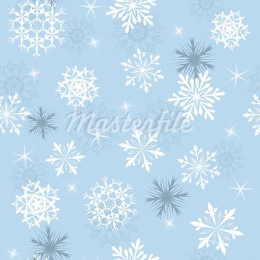 Seamless snowflakes background for winter and christmas theme.  For easy making seamless pattern just drag all group into swatches bar, and use it for filling any contours. Stock Photo - Royalty-Free, Artist: angelp                        , Code: 400-05698052
