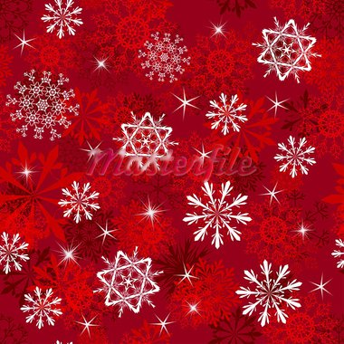 Seamless snowflakes background for winter and christmas theme.  For easy making seamless pattern just drag all group into swatches bar, and use it for filling any contours. Stock Photo - Royalty-Free, Artist: angelp                        , Code: 400-05698056