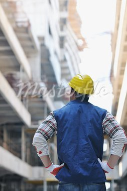 handsome hard worker people portrait at concstruction site Stock Photo - Royalty-Free, Artist: dotshock                      , Code: 400-05698572