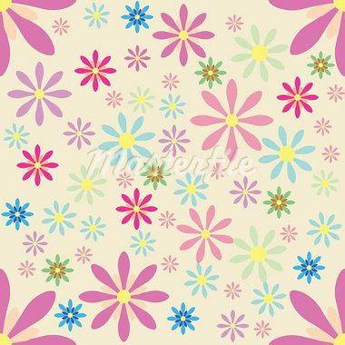 The seamless floral pattern on pink background Stock Photo - Royalty-Free, Artist: remonino                      , Code: 400-05699357