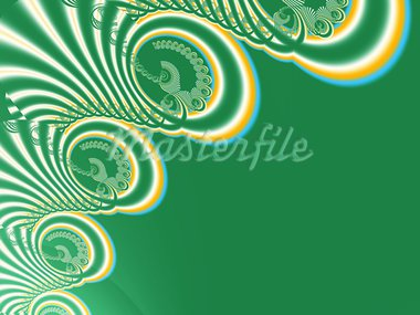 Stylized patterned lace on a green background. Stock Photo - Royalty-Free, Artist: leonikonst                    , Code: 400-05700760
