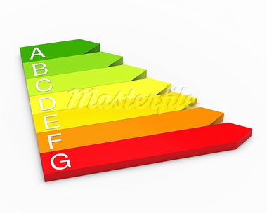 3d efficiency energy performance red to green Stock Photo - Royalty-Free, Artist: dak                           , Code: 400-05700797
