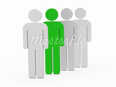 3d man leadership green stand in series Stock Photo - Royalty-Free, Artist: dak                           , Code: 400-05700807