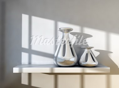 3d image of modern vases detail. Stock Photo - Royalty-Free, Artist: carloscastilla                , Code: 400-05702907