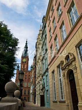 view on the mayors house in Gdansk, Poland Stock Photo - Royalty-Free, Artist: unkreatives                   , Code: 400-05703005