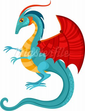 vector illustration of a dragon Stock Photo - Royalty-Free, Artist: nem4a                         , Code: 400-05703007