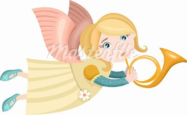 vector illustration of a cute christmas angel Stock Photo - Royalty-Free, Artist: nem4a                         , Code: 400-05703037