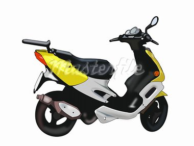 Illustration of a scooter on a white background. Stock Photo - Royalty-Free, Artist: Unnibente                     , Code: 400-05703053