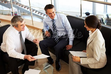 Portrait of busy people discussing new working plan at meeting Stock Photo - Royalty-Free, Artist: pressmaster                   , Code: 400-05703215