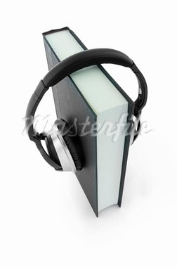 Picture of book with headphones. Stock Photo - Royalty-Free, Artist: image191                      , Code: 400-05704355