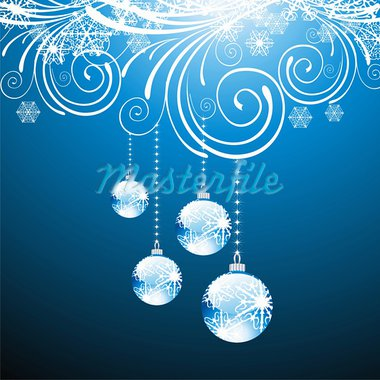 elegant christmas background with balls Stock Photo - Royalty-Free, Artist: 25081972                      , Code: 400-05704441