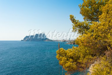 Outlook on Calpes landmark rock, Costa Blanca, Spain Stock Photo - Royalty-Free, Artist: hemeroskopion                 , Code: 400-05705441