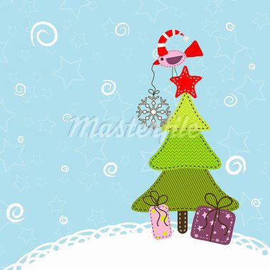 Template christmas greeting card, vector illustration Stock Photo - Royalty-Free, Artist: Tolchik                       , Code: 400-05705657