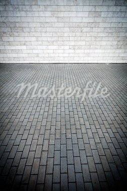 Grey tile wall and pavement Stock Photo - Royalty-Free, Artist: Taigi                         , Code: 400-05705859