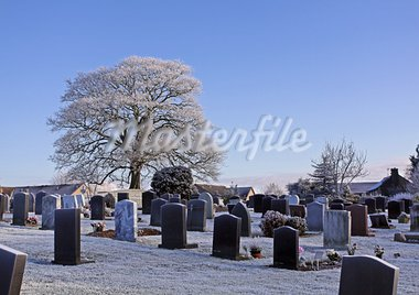 Winter graveyard Stock Photo - Royalty-Free, Artist: Lena_Zajchikova               , Code: 400-05705979